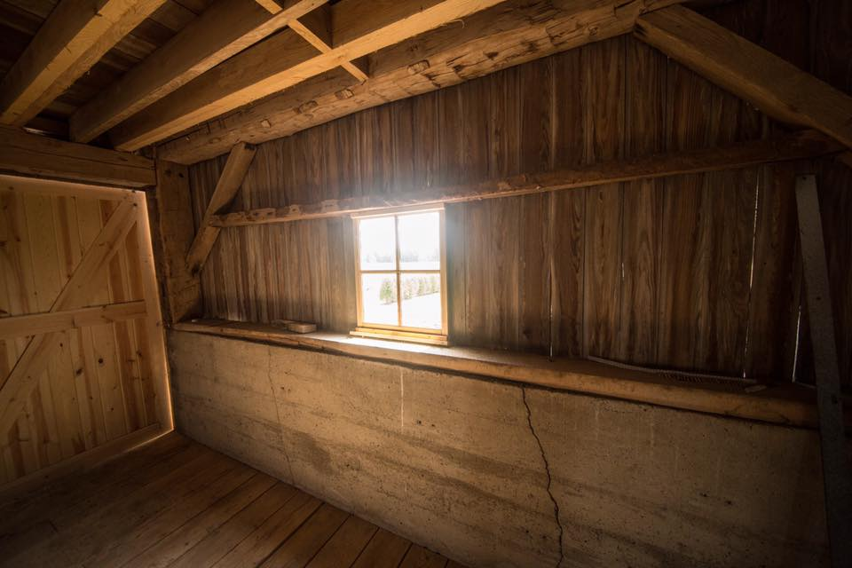 Inside side barn